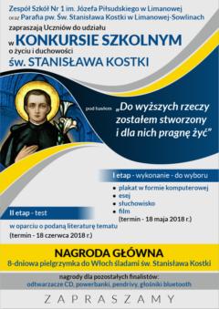Konkurs o Życiu i Duchowości św. Stanisława Kostki
