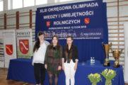 Sukces na Okręgowej XLIII Olimpiadzie Wiedzy i Umiejętności Rolniczej