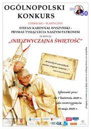 Ogólnopolski Konkurs Literacko-Plastyczny o Stefanie Kardynale Wyszyńskim
