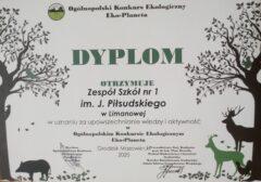 Wyniki Ogólnopolskiego Konkursu Ekologicznego EKO-PLANETA