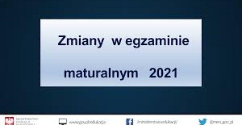 Egzamin maturalny 2021 – informacje