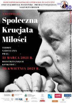OGÓLNOPOLSKI KONKURS LITERACKO-PLASTYCZNY Stefan Kardynał Wyszyński – Prymas Tysiąclecia naszym Patronem (3)